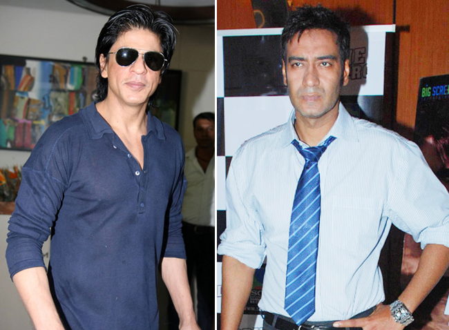 Shahrukh Khan and Ajay Devgn War on cricket league