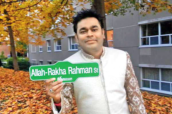 A street named after A R Rahman in Canada