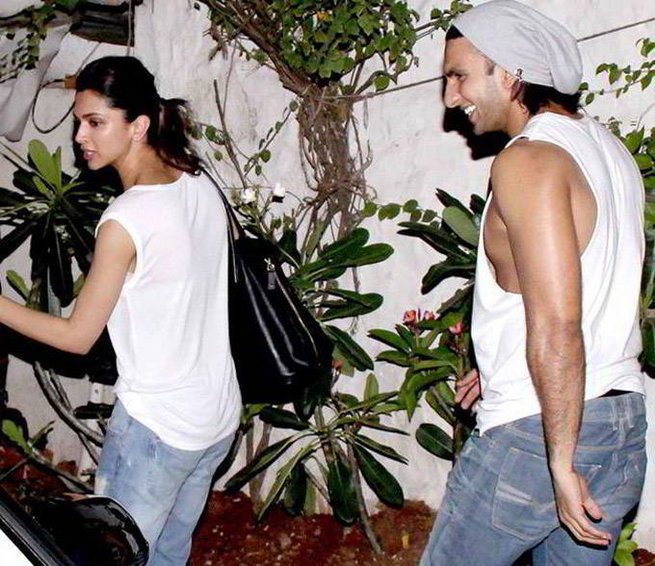 Deepika Padukone on a holiday with Ranveer Singh