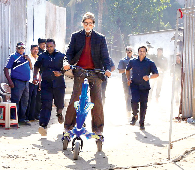 Amitabh Bachchan's scooter ride