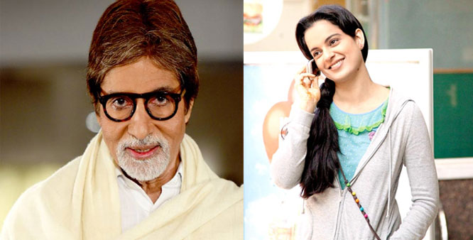 Kangana Ranaut and Amitabh Bachchan bag National Awards