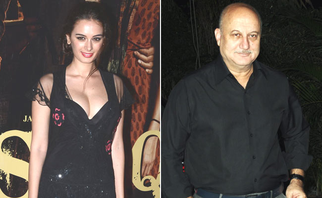 Evelyn Sharma finds mentor in Anupam Kher