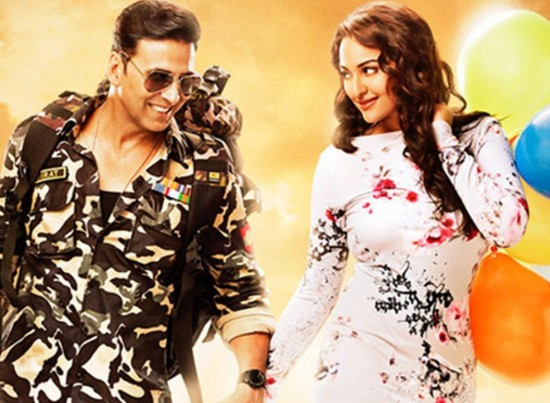 A slim Sonkashi Sinha on new poster of 'Holiday'