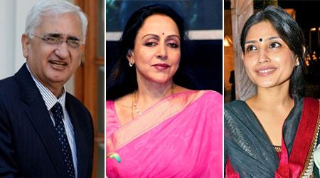 Dimple Yadav, Salman Khurshid, Hema Malini file nominations