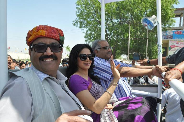 Sri Devi campaigns for Amar Singh