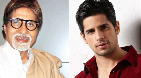 Sidharth Malhotra walked the ramp with Amitabh Bachchan, excited