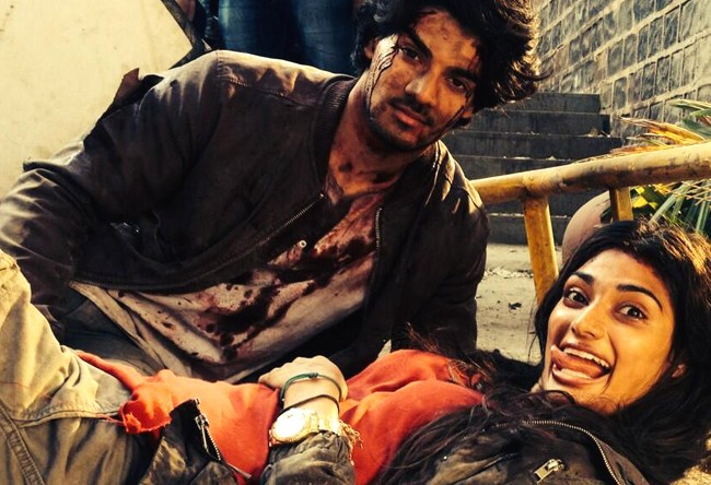 Check out - Sooraj Pancholi shoots 'Hero' with Athiya Shetty