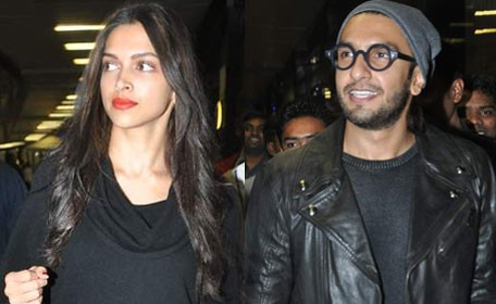 Deepika Padukone colour co-ordinates outfits with Ranveer Singh