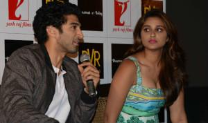 Aditya Roy Kapur with Parineeti Chopra