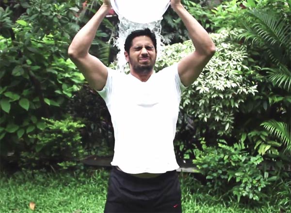 Video - Sidharth Malhotra takes the ALS Ice Bucket Challenge