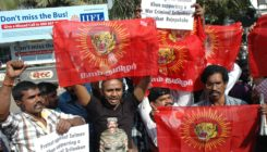 OMG - Tamils protest against Salman Khan in Mumbai