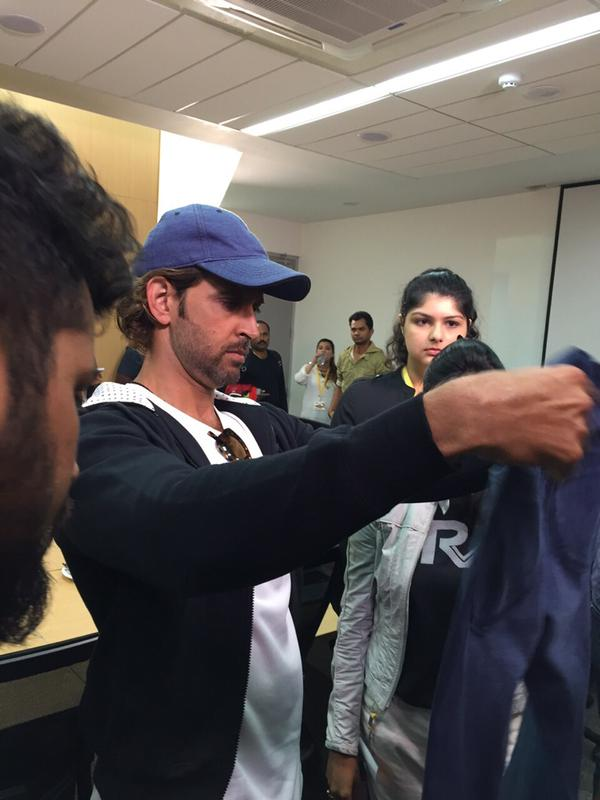 Hrithik Roshan visits Myntra office to meet Team HRX