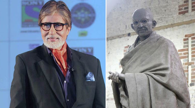 Amitabh Bachchan  to attend unveiling of Gandhi statue