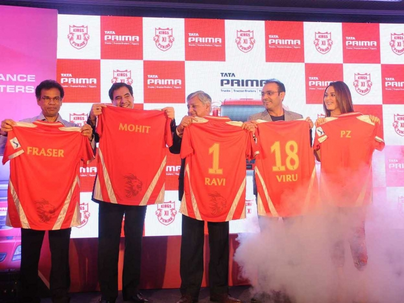 Virender Sehwag & Preity Zinta unveil KXIP's new jersey