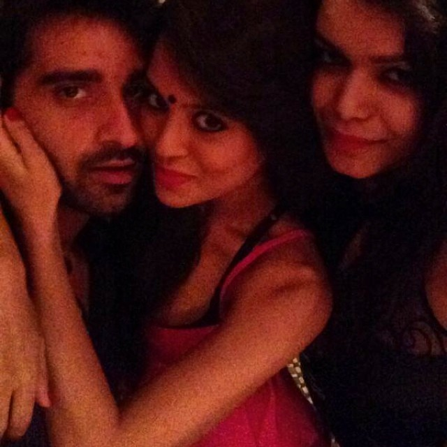 Sana Saeed with her friends