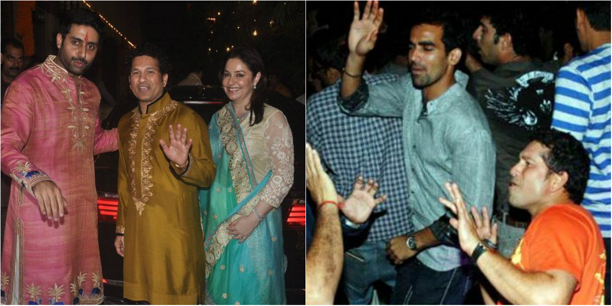 Pictures - Sachin Tendulkar Partying with Bollywood Celebs
