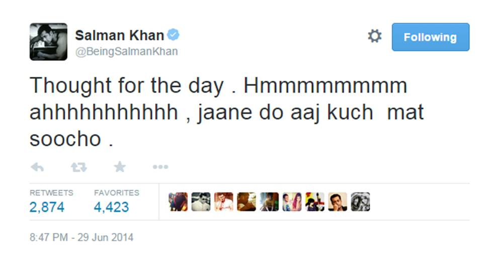 12 Bizzare Tweets by Salman Khan which will make you LOL !