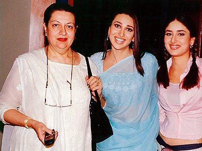 Karisma Kapoor with Mom and Sister