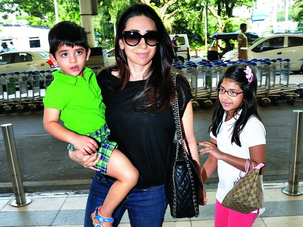 Karisma Kapoor with Daughter and Son