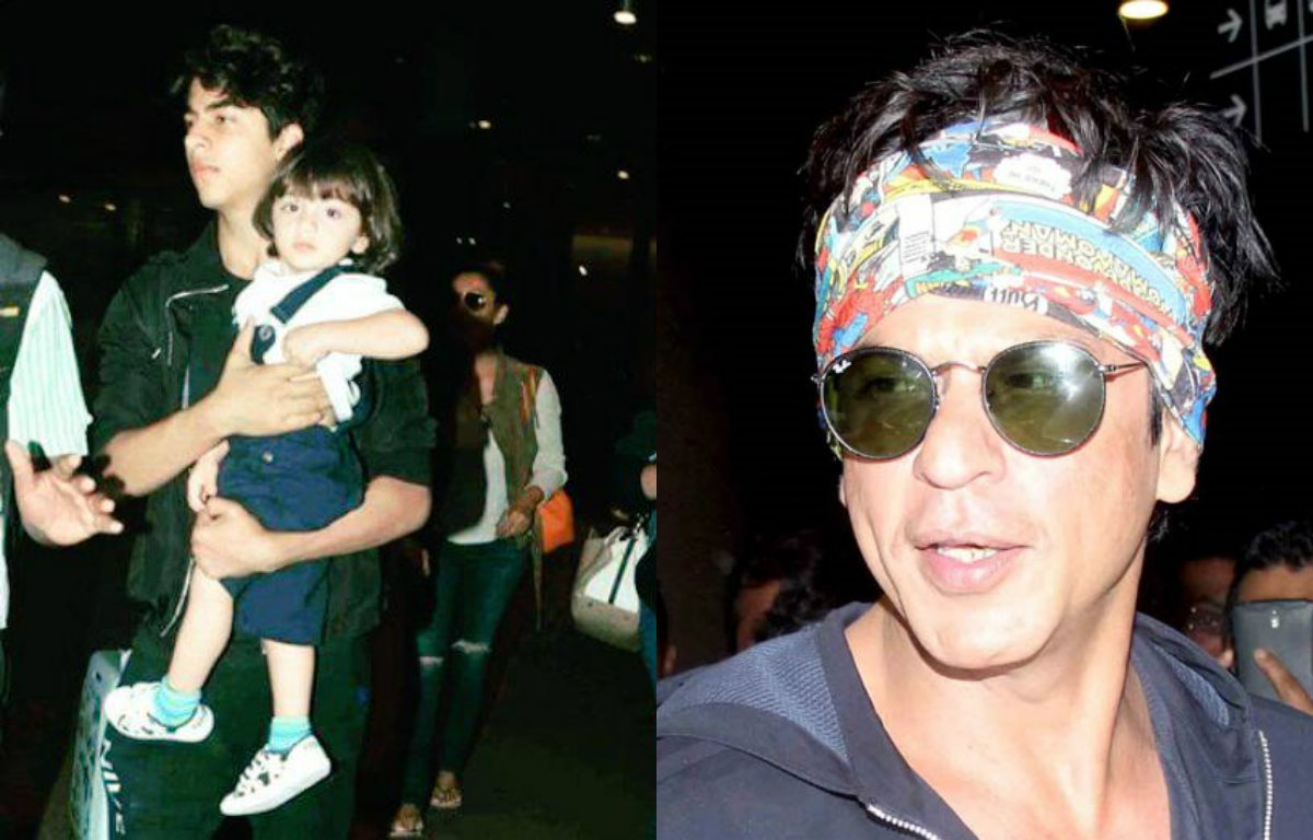 Spotted: Aryan Khan holding baby brother AbRam in his arms