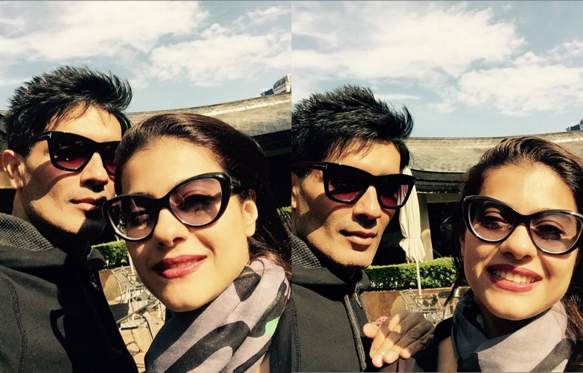 Pictures - Kajol chilling with Manish Malhotra in Bulgaria