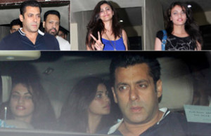 Salman Khan spotted with two beautiful young ladies