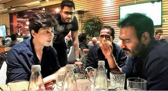 Shah Rukh Khan and Ajay Devgn dine together in Bulgaria