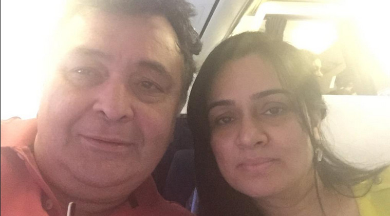 Rishi Kapoor, Padmini Kolhapure fly together 'after years'