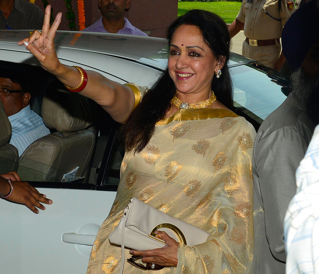 Hema Malini attends parliament after long gap