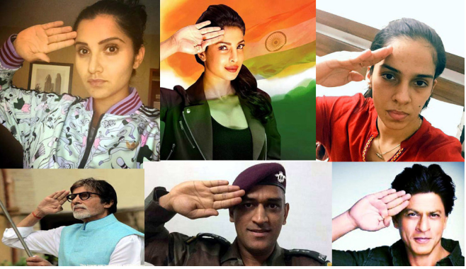 For I-Day, celebs salute soldiers with '#Saluteselfie'