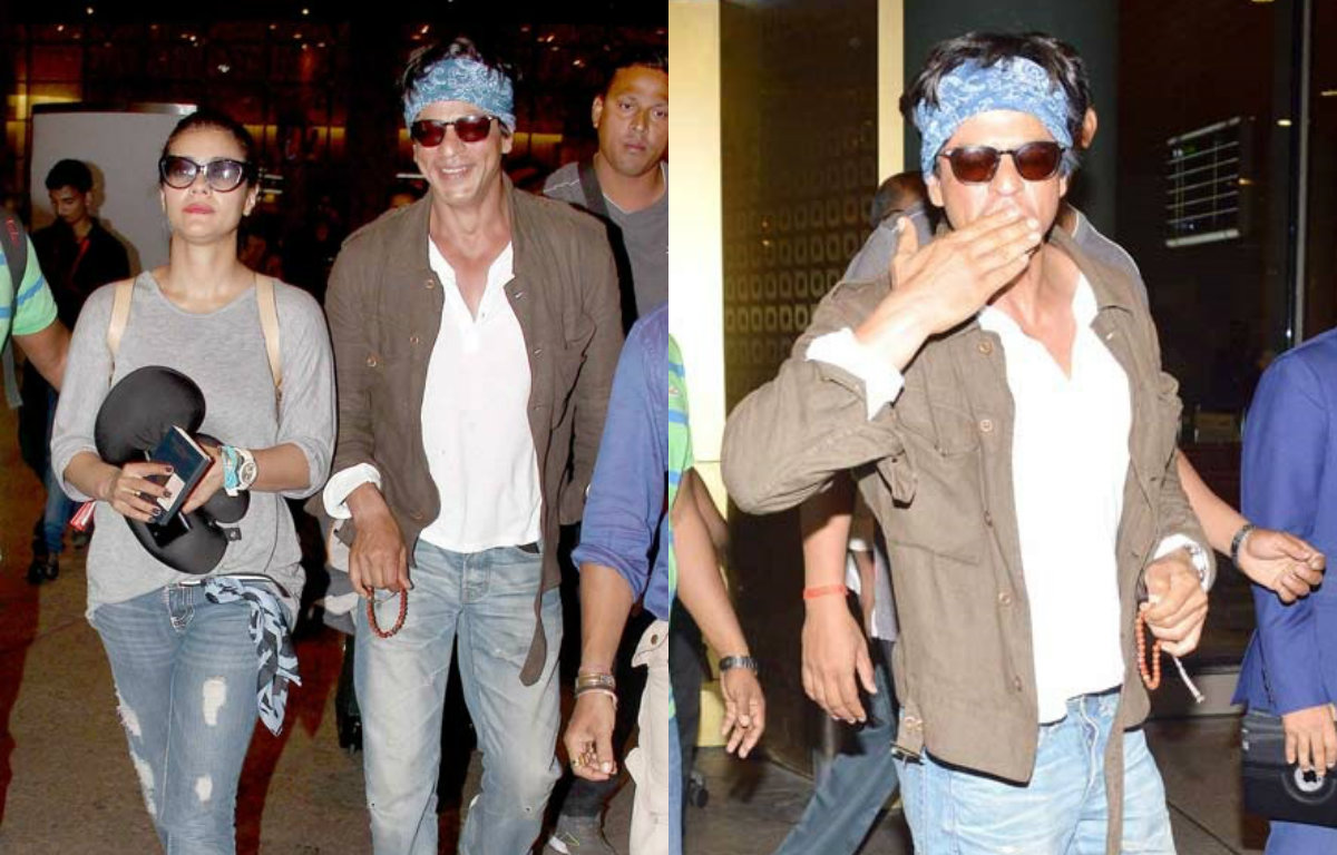 In Pictures : Shah Rukh Khan & Kajol back home after Dilwale wrap up in Bulgaria