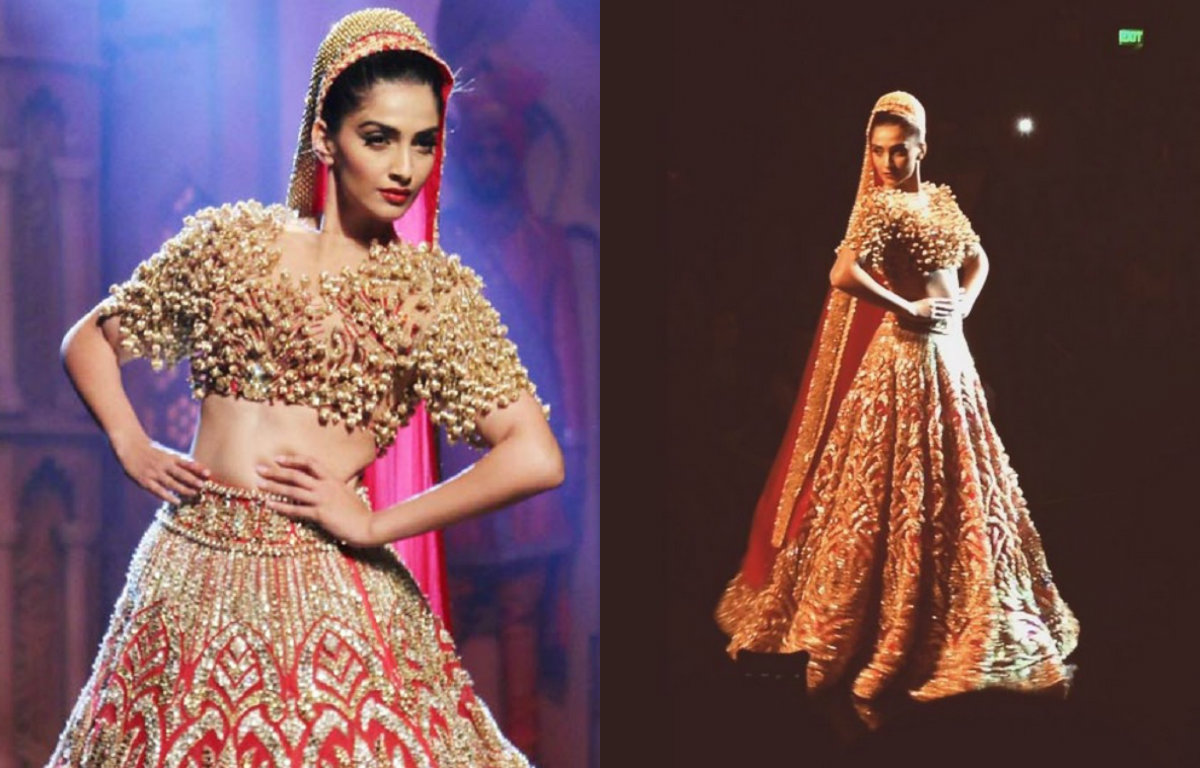 In Pictures - Sonam Kapoor's Bridal Avatar at the Bridal Fashion Week