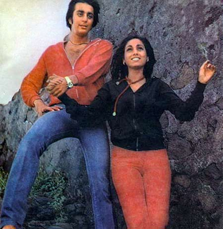 Sanjay Dutt and Tina Munim