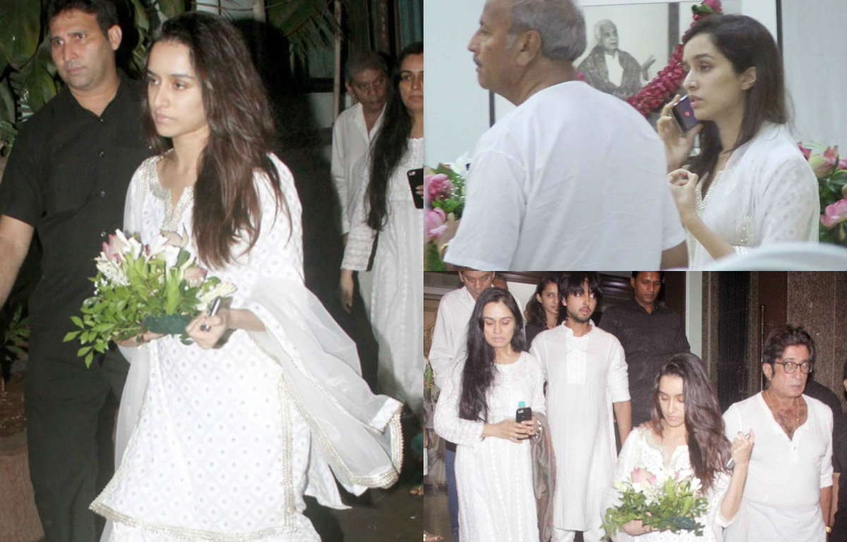 Shraddha Kapoor and family at prayer meet of her grandfather