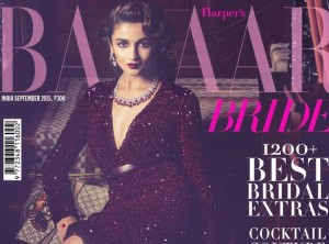 Alia Bhatt as Retro Bride for Harper's Bazaar