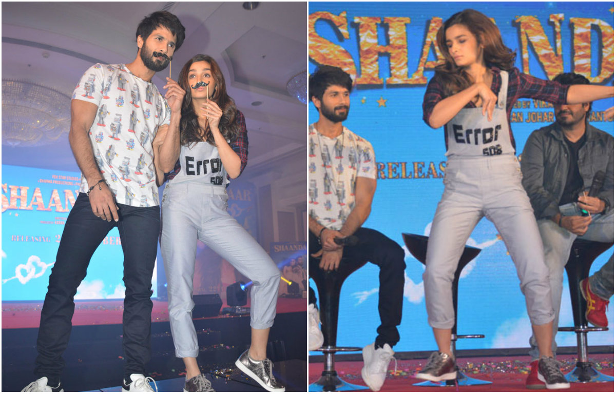 In Pictures : Fun filled launch of the song 'Gulaabo' from the film 'Shaandaar'