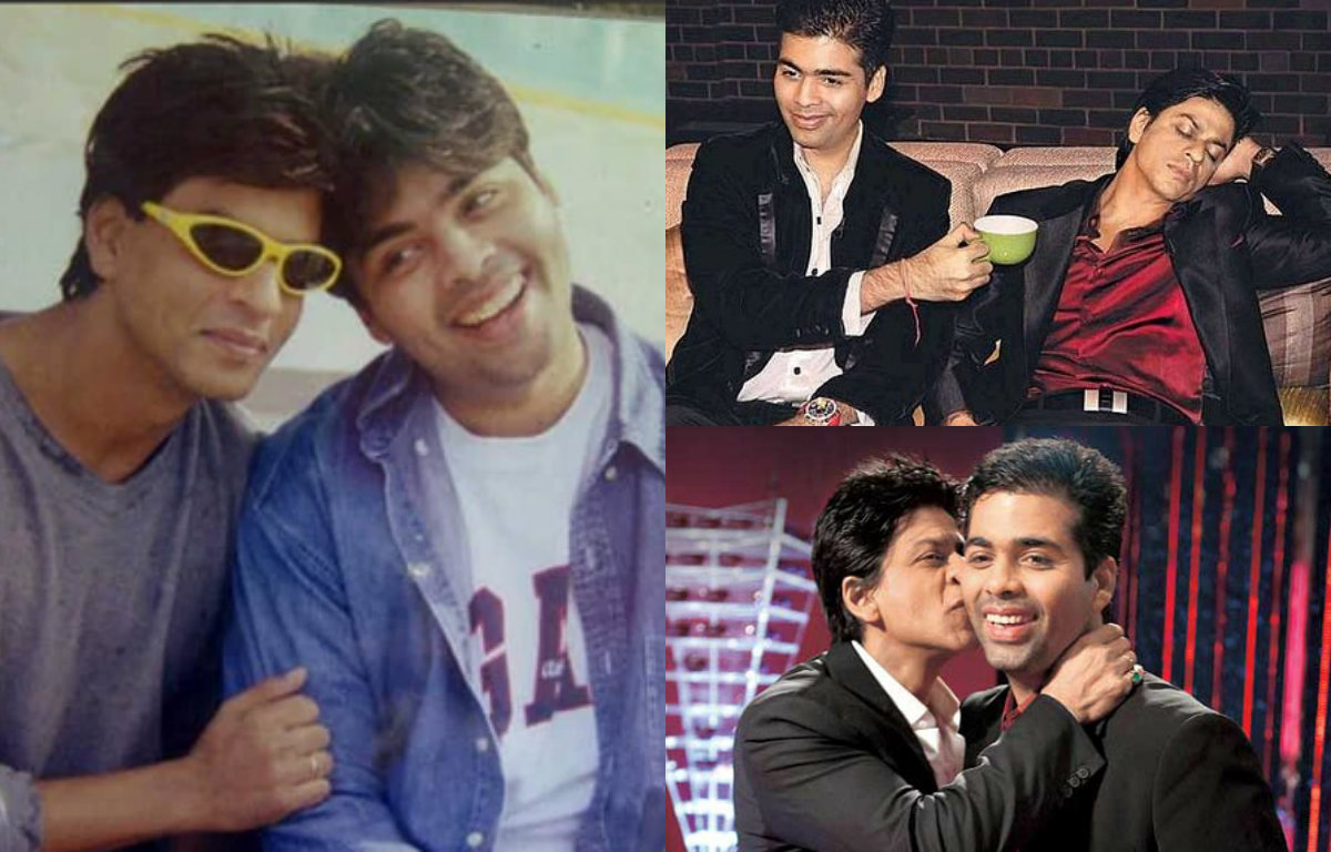 These pictures of Shah Rukh Khan and Karan Johar depict a true friendship bond