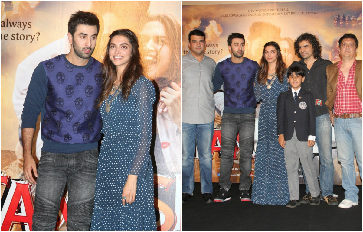 In Pictures : Star cast of 'Tamasha' at the trailer launch