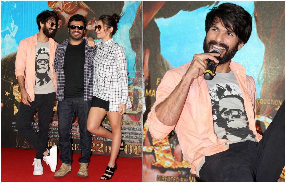 In pictures: Shahid Kapoor and Alia Bhatt at the song launch of 'Shaandaar'