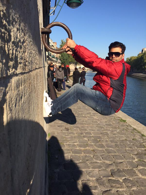 Wow! Karan Johar 'hanging out' in Paris