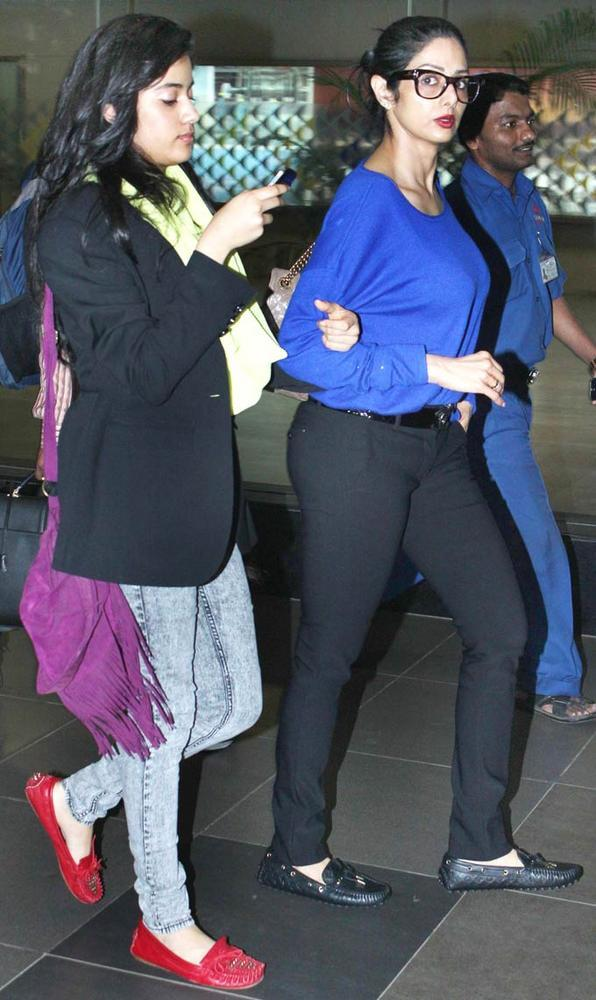 In Pictures: Sridevi and Jhanvi Kapoor, the stylish mother