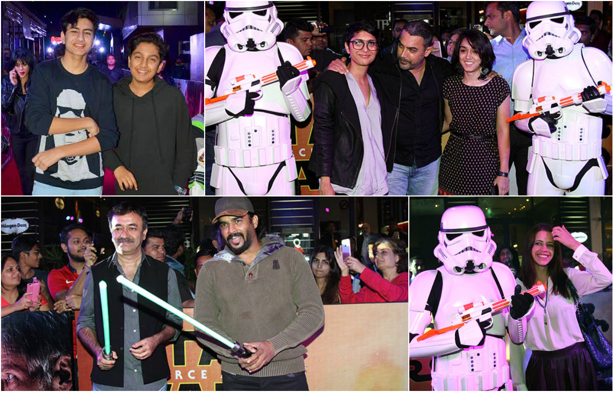 Bollywood celebs attend screening of 'Star Wars'