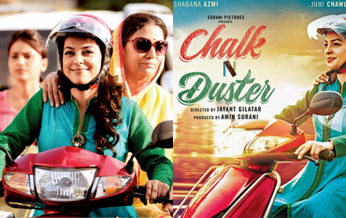 Juhi Chawla's bike lessons for her next 'Chalk N Duster'