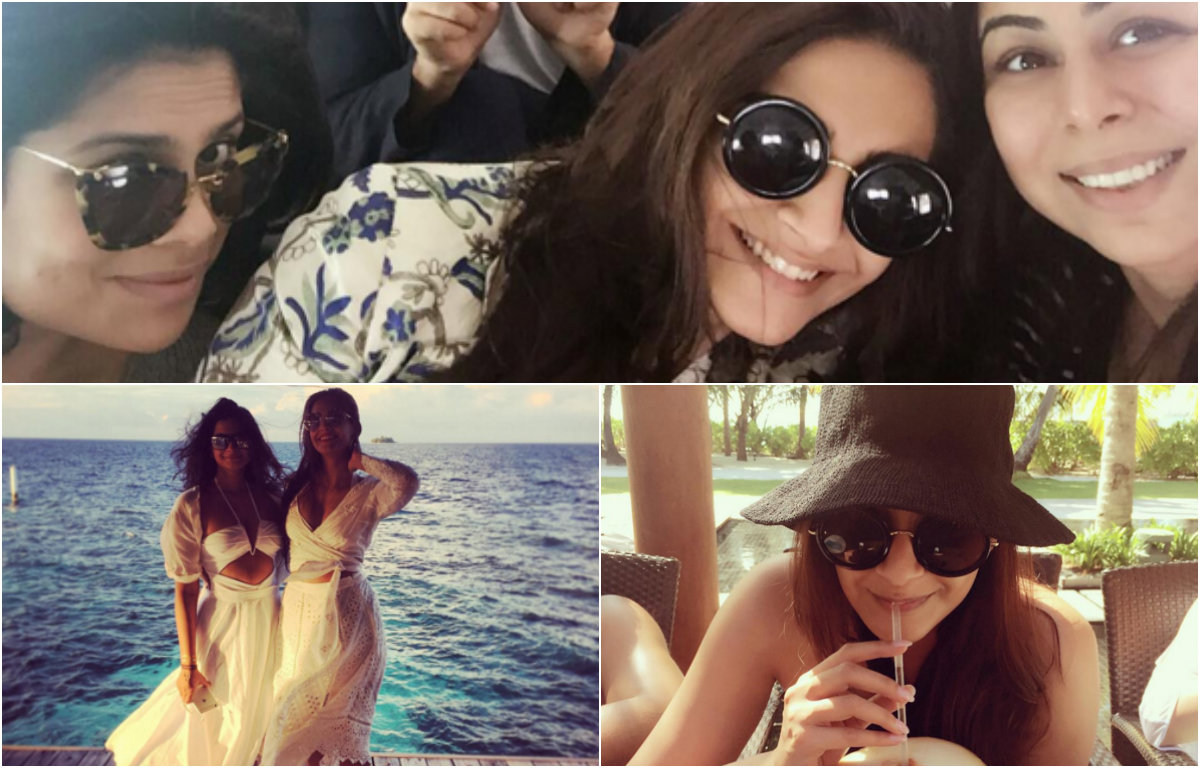 In Pictures - Sonam Kapoor at her chilled out best with friends in Maldives
