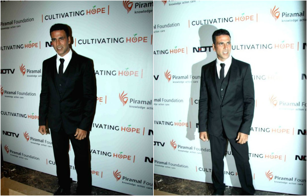 Catch - Akshay Kumar's dashing look at the launch of 'Cultivating Hope' Campaign