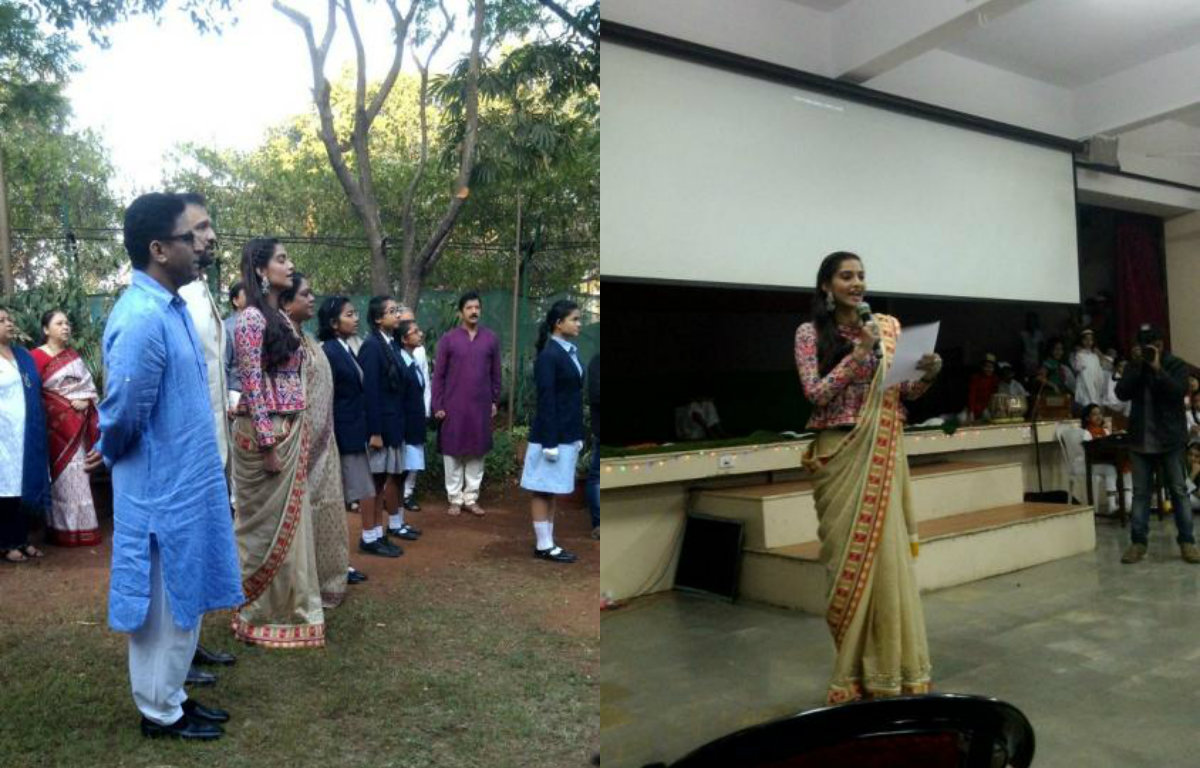 Republic Day Special: Sonam Kapoor visits Neerja Bhanot's school for Flag Hoisting