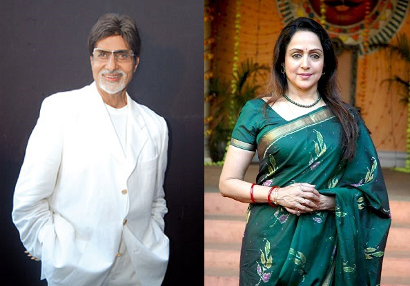 Amitabh Bachchan, Hema Malini get together for Maharashtra Night