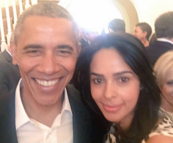Mallika Sherawat meets 'charismatic' Obama, shares the news on Twitter