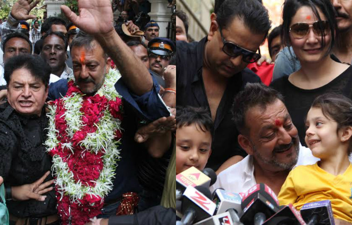 In Pictures: This is how Sanjay Dutt spent his day 1 as a 'free-man'