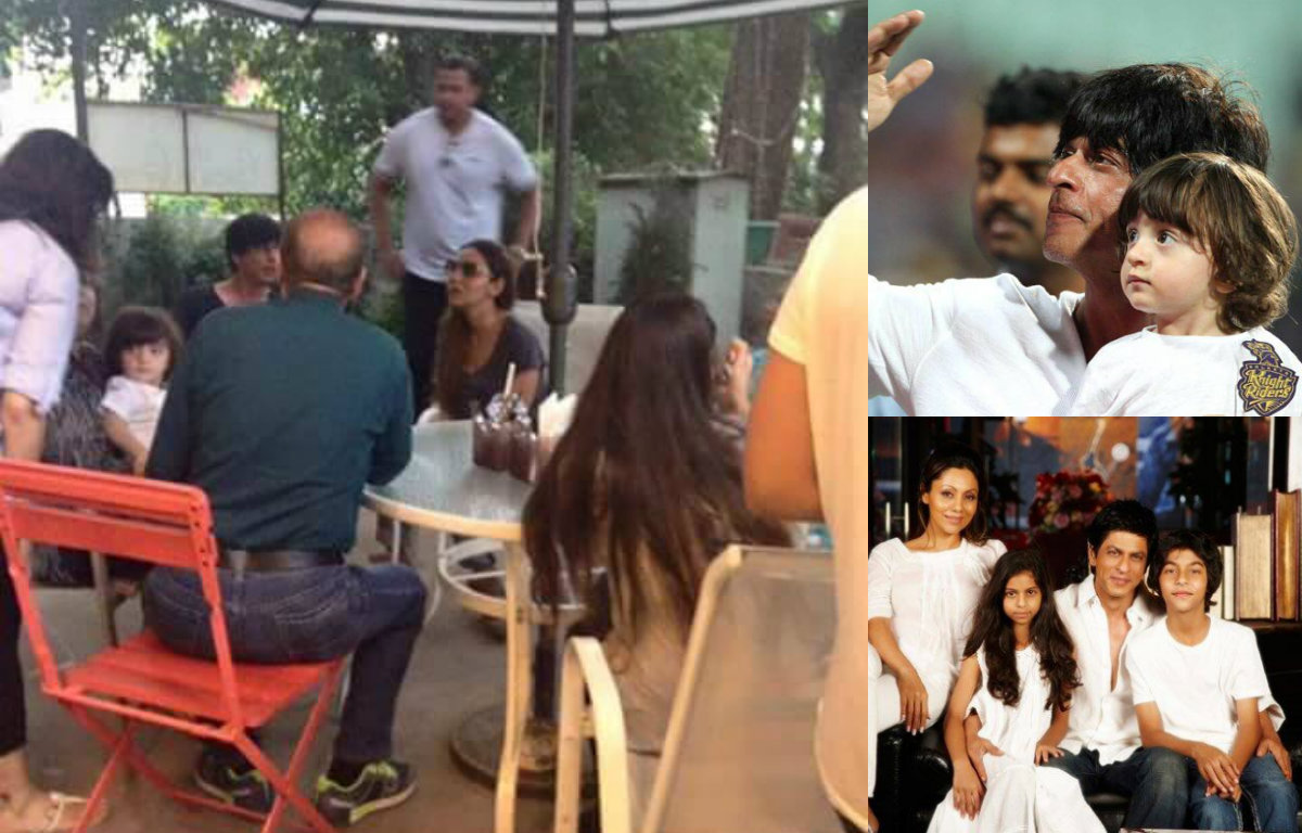 What a picture! Shah Rukh Khan and family spotted on a lunch outing